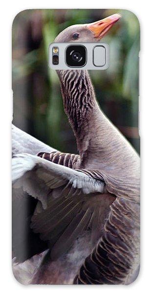 Greylag Goose Poetry Galaxy Case