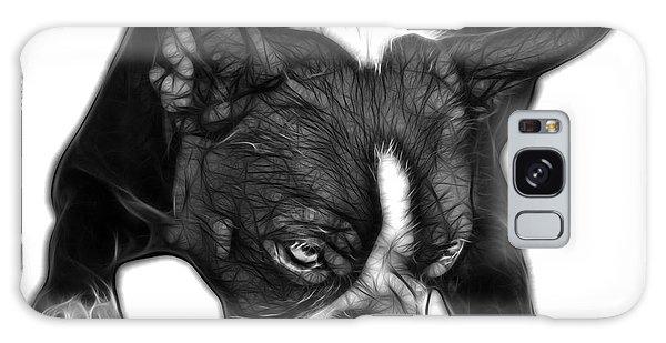 Greyscale Boston Terrier Art - 8384 - Wb Galaxy Case