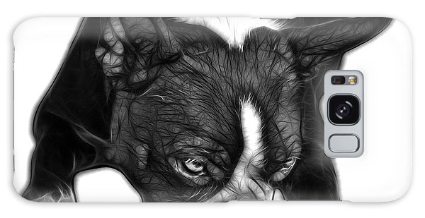 Greyscale Boston Terrier Art - 8384 - Wb Galaxy Case