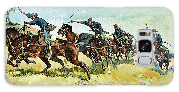 Cart Galaxy Case - Grimes's Battery Going Up El Pozo Hill by Frederic Remington