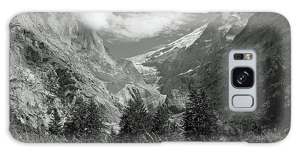 Grindelwald Glacier In Switzerland In Black And White Galaxy Case