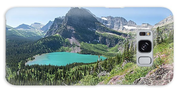 Grinnell Lake Panoramic - Glacier National Park Galaxy Case