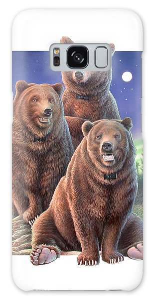 Grizzly Bears In Starry Night Galaxy Case