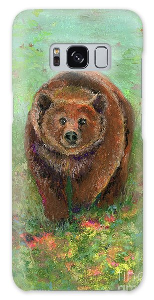 Grizzly In The Meadow Galaxy Case