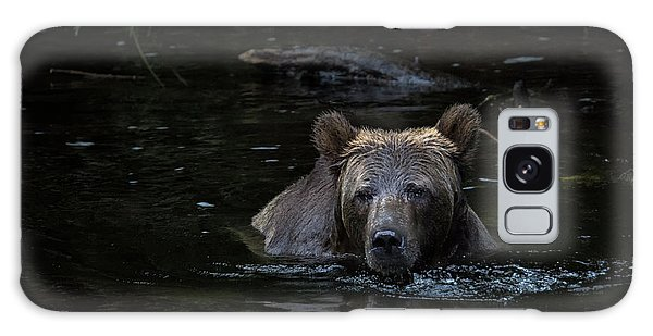 Grizzly Swimmer Galaxy Case