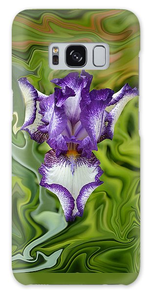 Groovy Purple Iris Galaxy Case by Rebecca Margraf