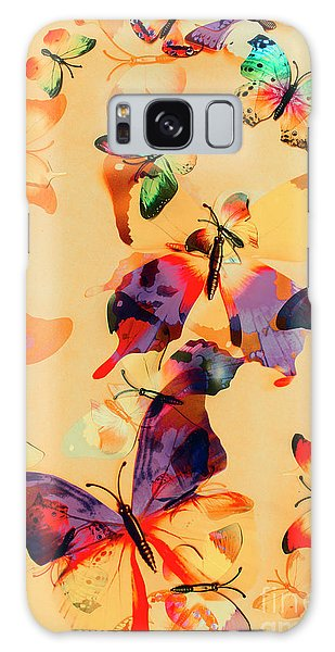 Group Of Butterflies With Colorful Wings Galaxy Case