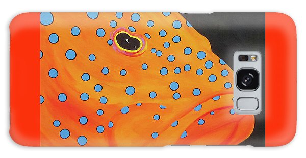 Grouper Head Galaxy Case by Anne Marie Brown