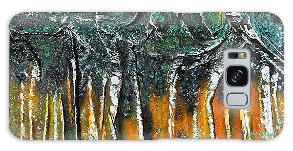 Grove Of Birch Galaxy Case by Angela Stout