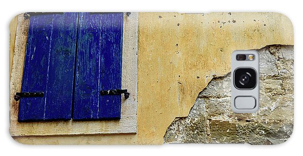 Groznjan Istrian Hill Town Stonework And Blue Shutters  - Istria, Croatia Galaxy Case