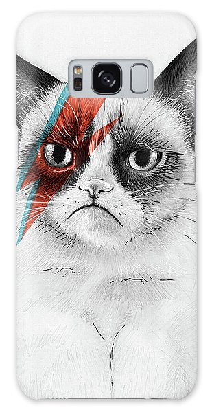 Galaxy Case - Grumpy Cat As David Bowie by Olga Shvartsur