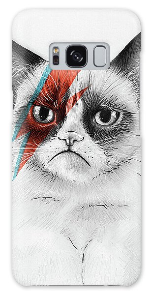 Cat Galaxy S8 Case - Grumpy Cat As David Bowie by Olga Shvartsur
