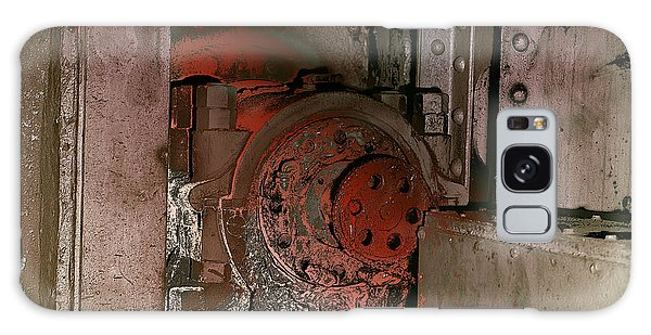 Galaxy Case featuring the photograph Grunge Gear Motor by Robert G Kernodle