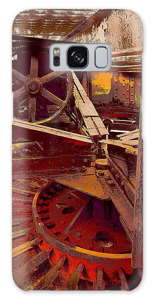 Galaxy Case featuring the photograph Grunge Gears by Robert Kernodle