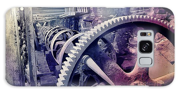 Galaxy Case featuring the photograph Grunge Large Gear by Robert G Kernodle
