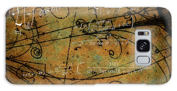 Galaxy Case featuring the photograph Grunge Math Equations by Robert G Kernodle