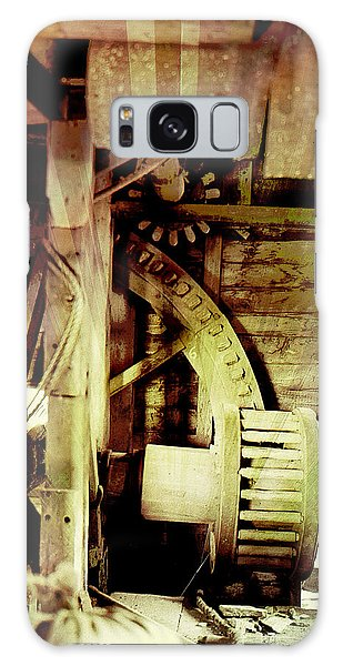 Galaxy Case featuring the photograph Grunge Mill Wheels by Robert G Kernodle