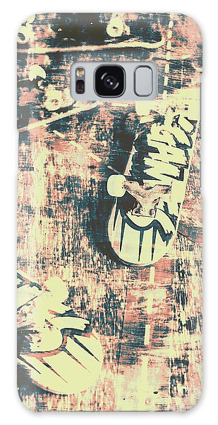 No-one Galaxy Case - Grunge Skateboard Poster Art by Jorgo Photography - Wall Art Gallery