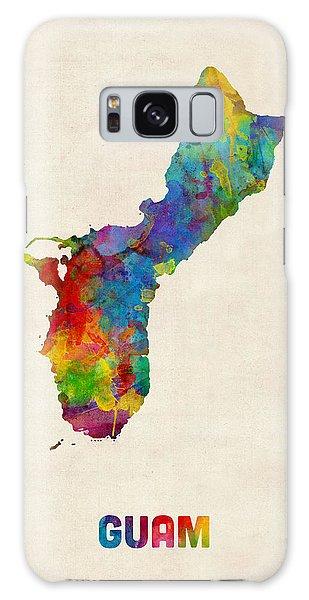 Guam Watercolor Map Galaxy Case