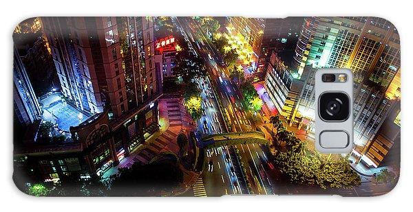 Guangzhou City Streets At Night Galaxy Case