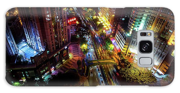 Guangzhou City Streets At Night Galaxy Case