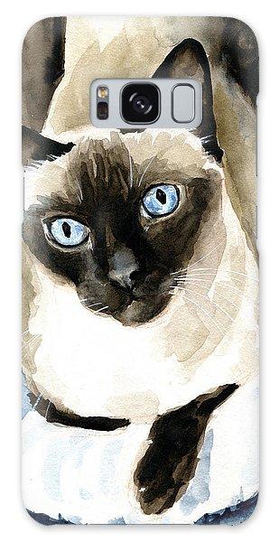 Guardian Angel - Siamese Cat Portrait Galaxy Case
