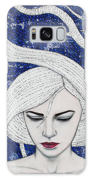 Galaxy Case featuring the mixed media Guardian Of The Night by Natalie Briney