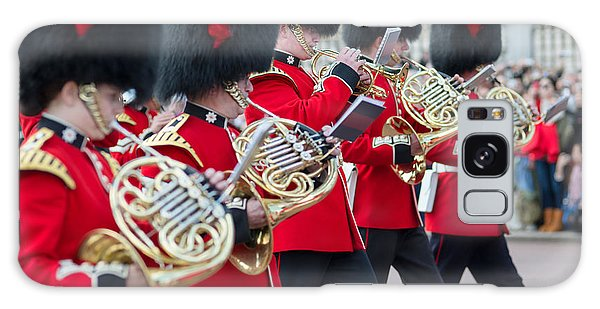 guards band at Buckingham palace Galaxy Case
