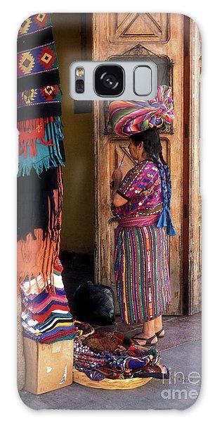 Guatemala Maya Textile Vendor Galaxy Case