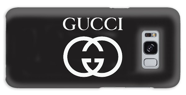 Logo Galaxy Case - Gucci - Black And White - Lifestyle And Fashion by TUSCAN Afternoon