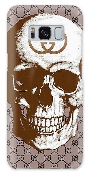 Skull Galaxy Case - Gucci Poster Gucci Print Gucci Skull Brown Print by Del Art