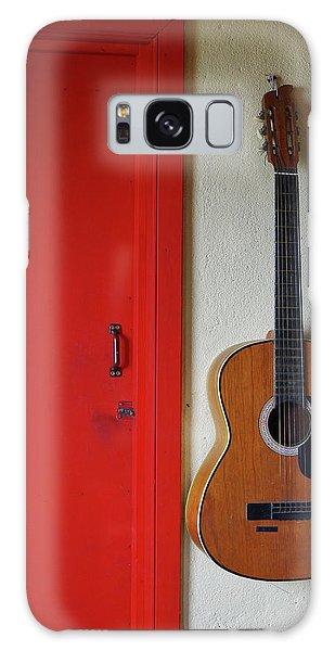 Guitar And Red Door Galaxy Case