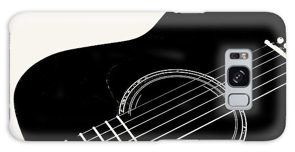 Guitar, Black And White,  Galaxy Case