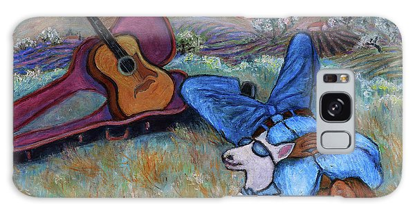 Guitar Doggy And Me In Wine Country Galaxy Case