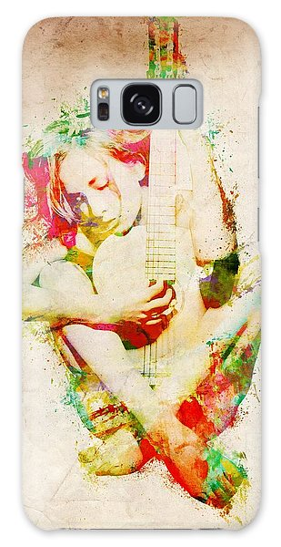 Guitar Lovers Embrace Galaxy Case by Nikki Smith