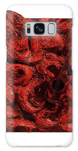 Guitar, Record, Red Galaxy Case