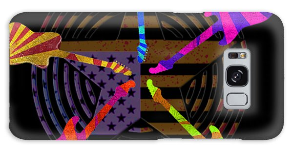 Galaxy Case featuring the digital art Guitars Stars And Stripes  by Guitar Wacky