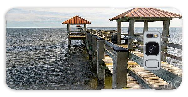 Gulf Coast Pier Galaxy Case