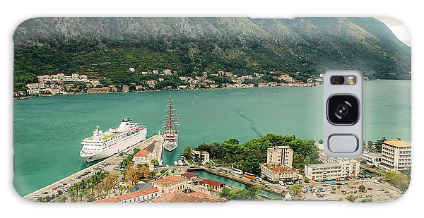 Gulf Of Kotor With Cruise Liner Galaxy Case