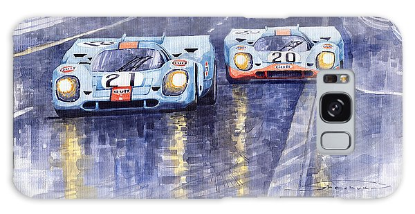 Car Galaxy S8 Case - Gulf-porsche 917 K Spa Francorchamps 1970 by Yuriy Shevchuk