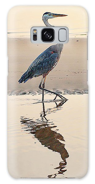 Gulf Port Great Blue Heron Galaxy Case