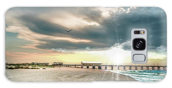 Gulf Shores Al Pier Seascape Sunrise 152c Galaxy Case