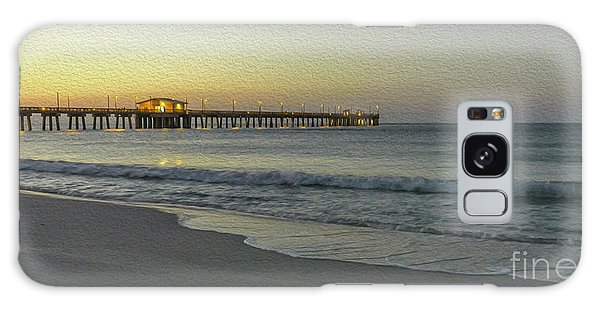 Gulf Shores Alabama Fishing Pier Digital Painting A82518 Galaxy Case