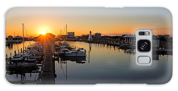 Gulfport Harbor Sunset Galaxy Case