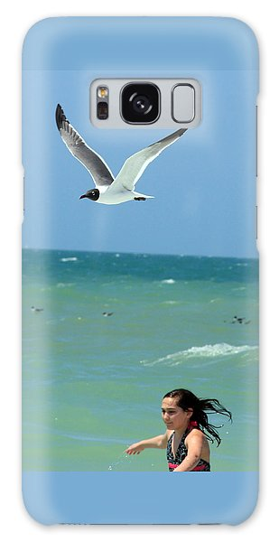 Gull And Girl Galaxy Case