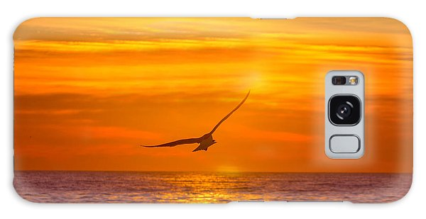 Gull At Sunrise Galaxy Case by Allan Levin