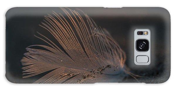 Gull Feather On A Beach Galaxy Case