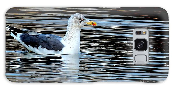 Gull On Winter's Pond  Galaxy Case