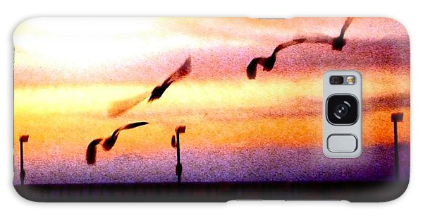 Gull Play Galaxy Case by Sadie Reneau