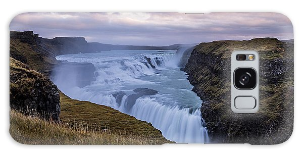 Galaxy Case featuring the photograph Gullfoss, Sunrise by James Billings